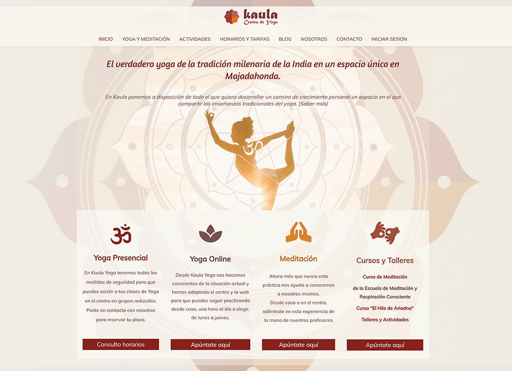 Centro de Yoga con membresía y clases online desde la misma web
